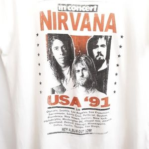 Cotton On Tops - Nirvana in Concert Tee by Cotton On